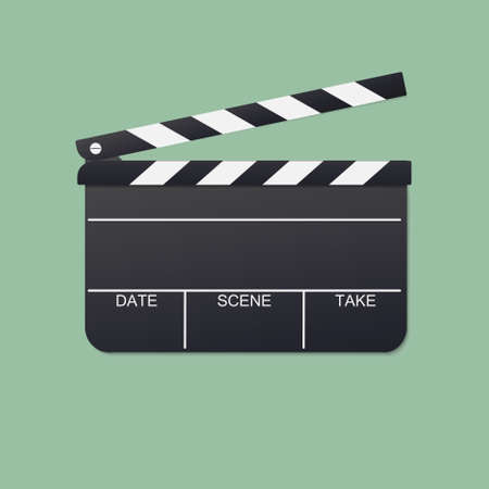 open clapboard vector for film production