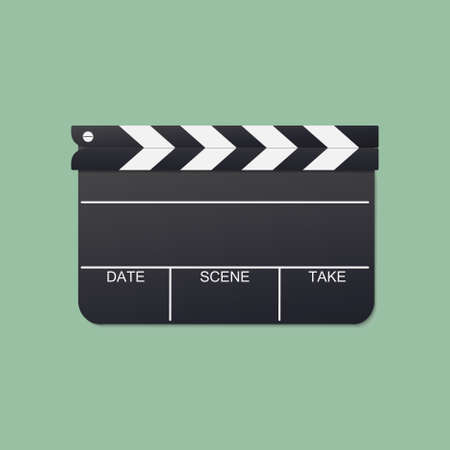 clapboard vector for film production