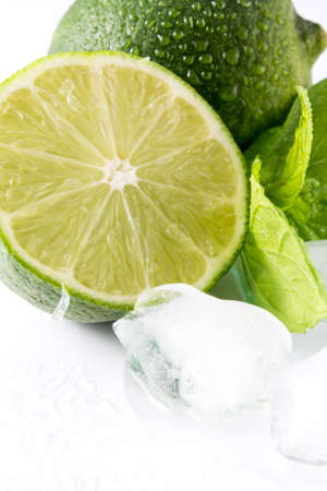 Lime, mint and ice photo