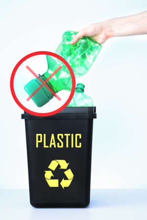 How not to dispose of plastic bottles photo