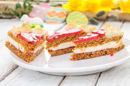 Traditional Polish Easter cake. Holiday decoration