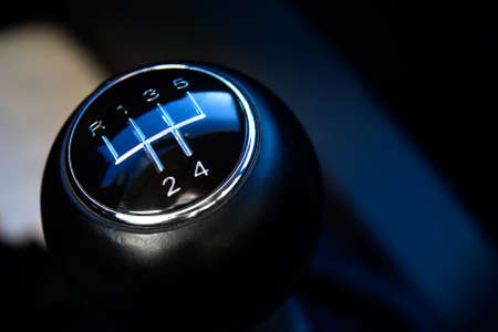 sequential: Close-up of gear stick from manual gearbox Stock Photo