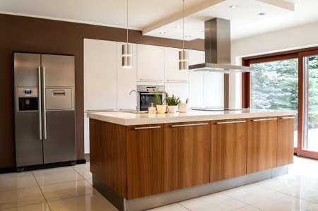 가정 용품과 현대 부엌의 개념 스톡 콘텐츠