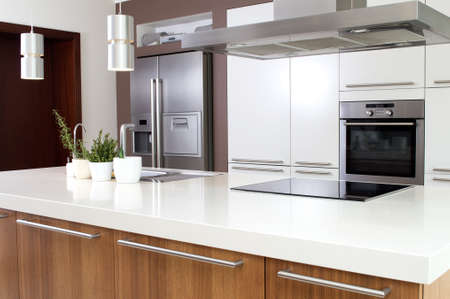household goods: Conception of modern kitchen with household goods