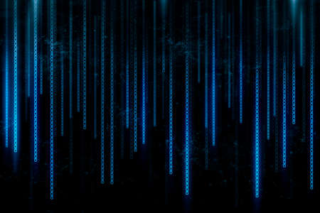information science: Abstract background created with blue binary code line