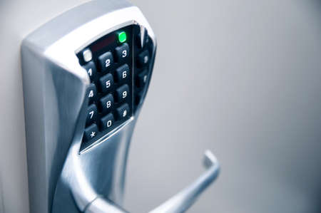 Door handle with modern electronic combination lock