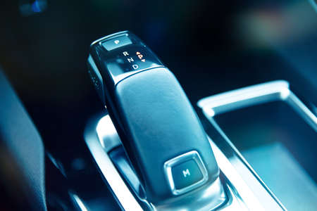 Leverage of automatic gearbox in modern car.
