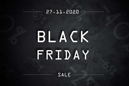 Black friday info banner for 2020 year in horrizontal orientation Stock Photo