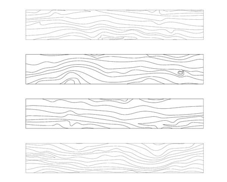 Holzbrett Textur Vektor-Illustration isoliert Platine Design