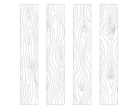 Vektor-Illustration von hölzernen Textur isoliert Schaltung Vektorgrafik