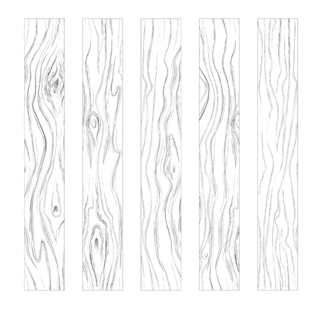 Gray wooden background texture. Hand drawn wooden picture boards. Gray vertical slats vector illustration.