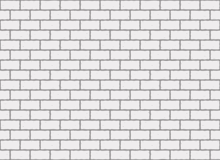 The white brick wall seamless texture. Architectural white and gray background vector illustration.