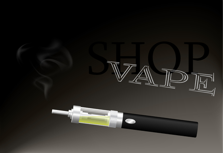 Electronic cigarette image illustration Illustration