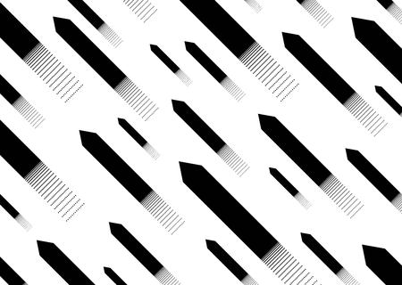 Abstract background. Black arrows pointing up. Arrows  various sizes with  effect  crumbling particles. Vector