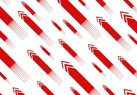 Red arrows. Abstract background. Arrows  various sizes with  effect  crumbling particles. Vector Illustration