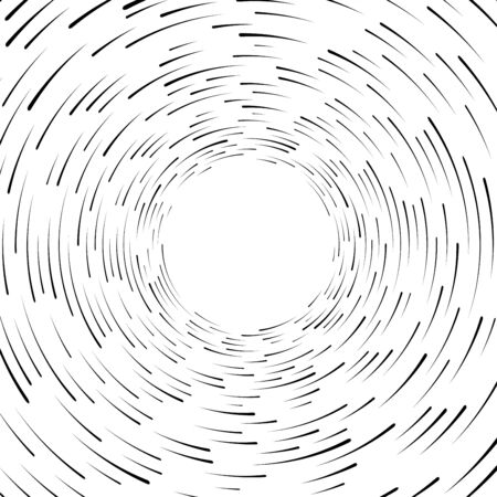 Speed line. Radial lines background. Speed comic book. Symbol of movement, speed, explosion, radiance, flying particles. Black silhouette. Isolation Vector illustration