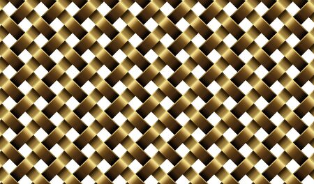 Gold metal net. Background template. Design element  realistic style. Isolated. Vector illustration Ilustracja