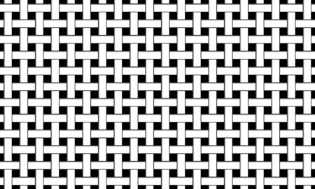 Lattice seamless  pattern. Abstract modern texture. Repeating  background with interlacing lines. Template background. Black silhouette on white background. Isolation. Vector