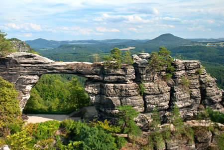Pravcicka brana natural gate in the Czech-Saxon Switzerland photo