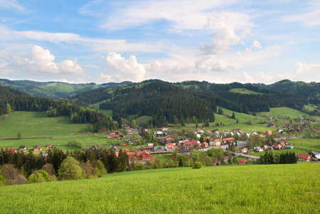 highlands region: Highland Village Velke Karlovice in the Czech Republic