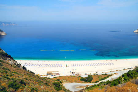 Myrtos Beach Stock Photo
