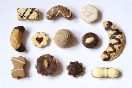 Photo of various hand-made Christmas cookies. photo