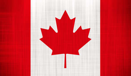 Canada Flag with a fabric texture photo