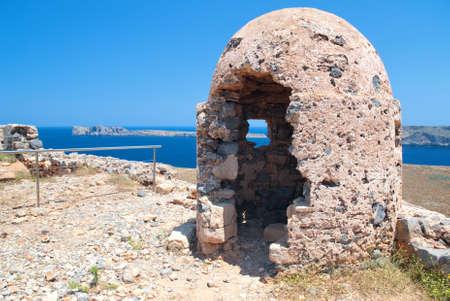 loophole: Stone Loophole Fortification Gramvousa above Sea