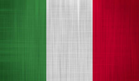 Italian Flag with a fabric texture