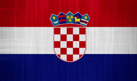 Croatia Flag with a fabric texture Stock Photo - 16991591