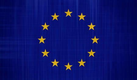 EU Flag with a fabric texture Stock Photo - 16991589