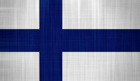 Finland Flag with a fabric texture Stock Photo - 16991570