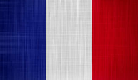 France Flag with a fabric texture photo