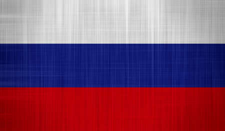 Russia Flag with a fabric texture Stock Photo