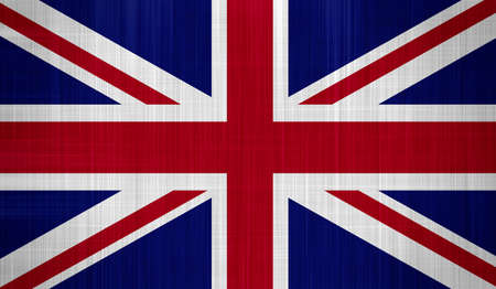 Great Britain Flag with a fabric texture photo