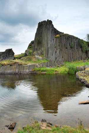 Basalt rock in Lusatian Mountains