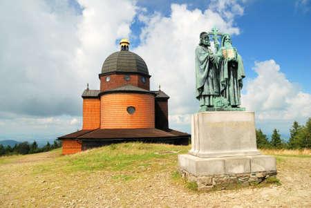 Chapel of saint Konstantin and Methodius in clouds