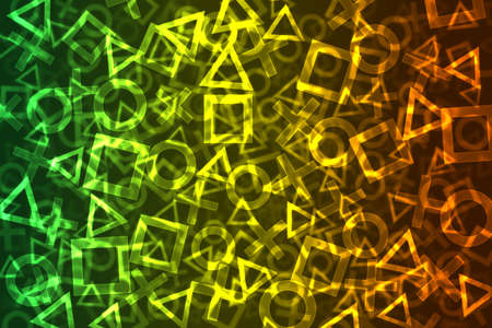 Abstract Colorful Signs Bokeh Background Stock Photo