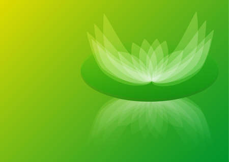 Abstract Green Water Lily Background Wallpaper photo