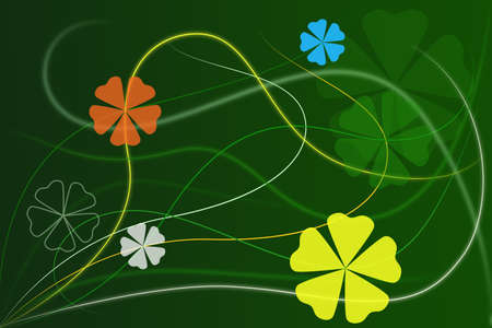 Abstract Green Floral Background Wallpaper photo