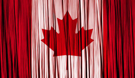 Canada Flag with a folded fabric texture photo