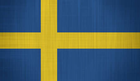 Sweden Flag with a fabric texture photo