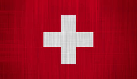 confederation: Switzerland Flag with a fabric texture