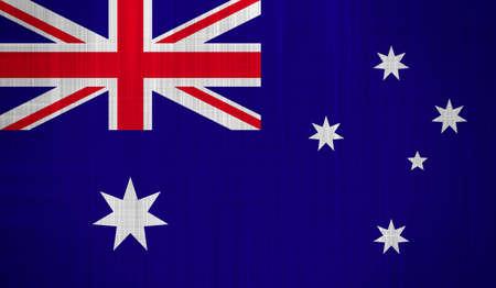Australia Flag with a fabric texture photo