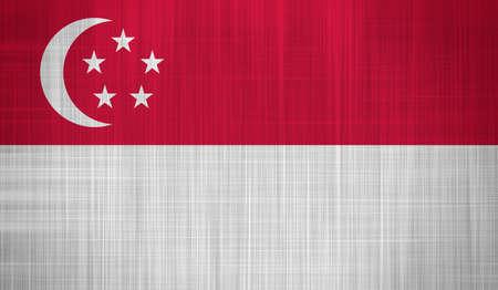 singaporean flag: Singapore Flag with a fabric texture Editorial