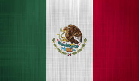 Mexico Flag with a fabric texture