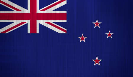 New Zealand Flag with a fabric texture