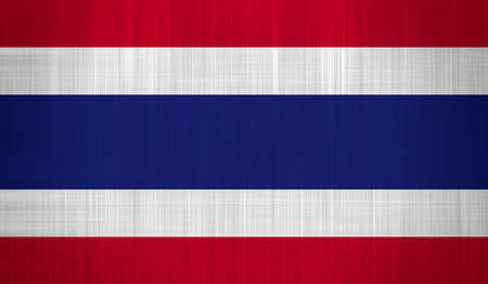 thai language: Thailand flag with a fabric texture Stock Photo