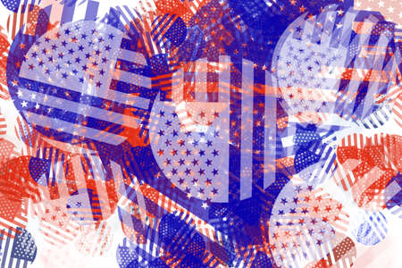 disorganized: Abstract USA American flag pattern background Stock Photo