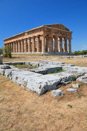 Ancient Greek Temple in Paestum in Italy